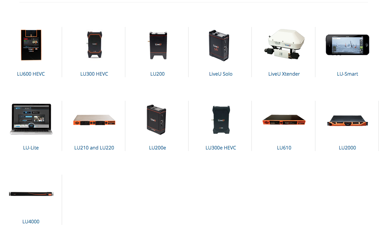 THE LIVEU FAMILY OF PRODUCTS